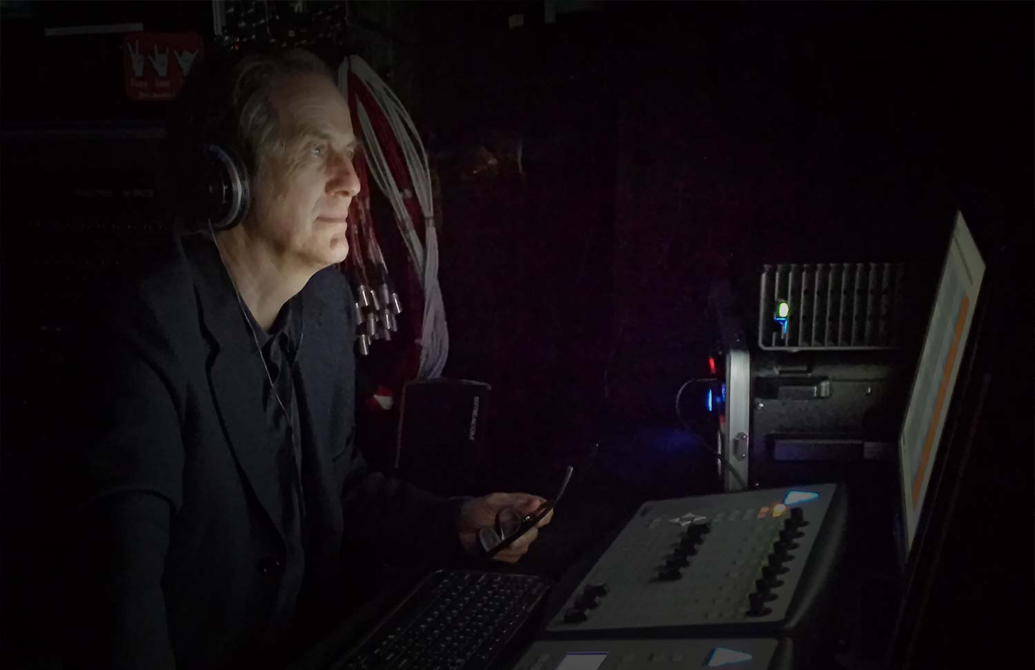 Audio engineer Andreas Klein